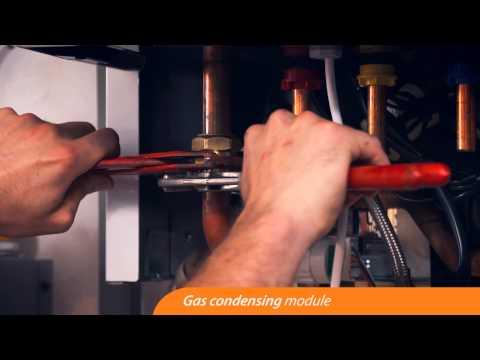 Installazione Rotex HPU Hybrid System a pompa di calore e caldaia