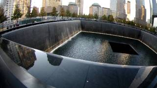 9/11 Memorial Pool and Surrounding World Trade Center Rebuilding