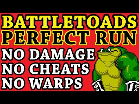 [World Record] Battletoads PERFECT RUN (No Damage, No Warps, No cheats)
