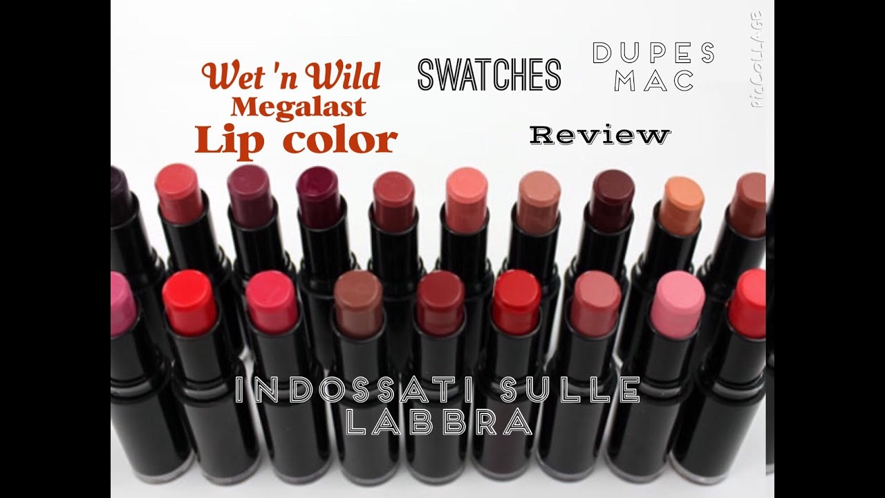 Popolare WET 'N WILD MEGALAST LIP COLOR: SWATCHES, REVIEW, DUPES MAC - YouTube JQ56