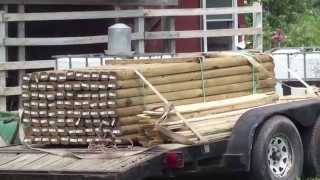 Building A Landscape Timber Fence On The Homestead #2