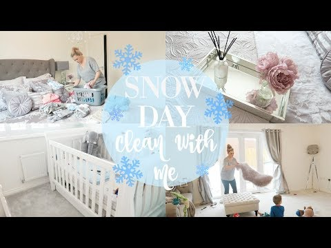 SNOW DAY CLEAN WITH ME | EXTREME CLEANING MOTIVATION | SAHM SPEED CLEAN POWER HOUR | MRS SMITH & CO.