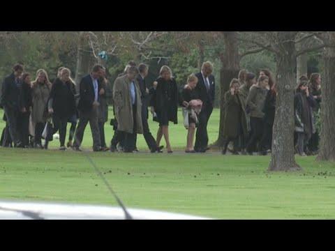 Reina Máxima de Holanda despide los restos de su padre en Argentina