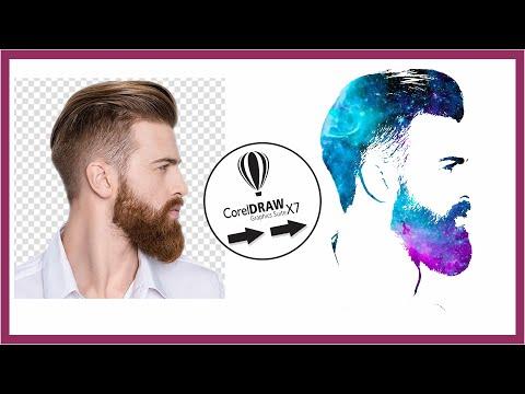CorelDraw Tutorial - Trace Colorful Image - Make Face Logo - Facebook Profile | Youtube Channel Logo