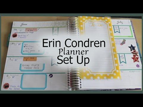 Erin Condren Planner Set Up | How I Organize | Horizontal