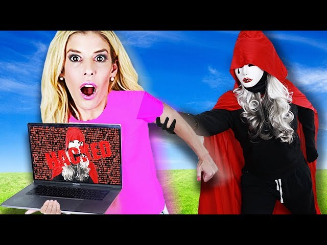 We Escape HACKER Hide and Seek Chase with FIRST E3 Laptop to save Game Master Network!