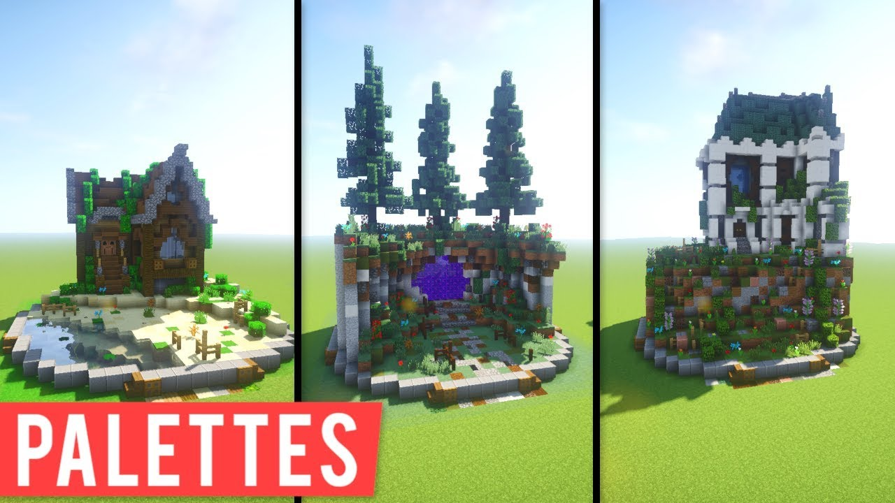 Minecraft Block Combinations Palettes Example Builds Youtube