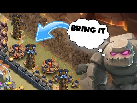 Clash Of Clans | THE GOLEM TRAP WORKS!! | Level 10 Clan War Fail!