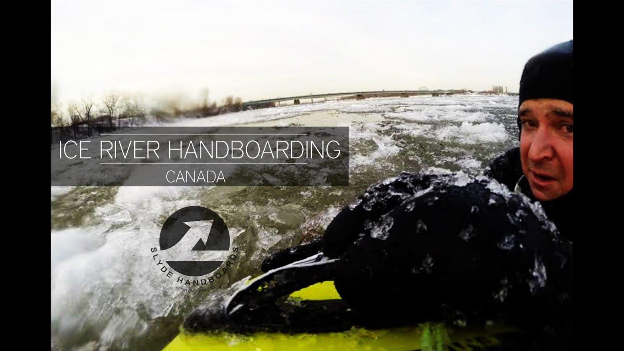 Slyde Handboards: Ice River Bodysurfing in Canada