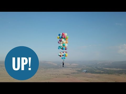 British thrill-seeker flies across South Africa with 100 balloons