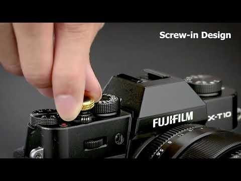 【傑米羅】JJC 機械相機 螺牙式 快門按鈕 增高鈕《純銅製 豪華版》(SRB-BK 黑框藍皮) - 帶防脫圈 防鬆脫