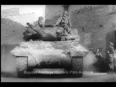 Historic Archival Stock Footage WWII - Allied Armies on the Road to Rome