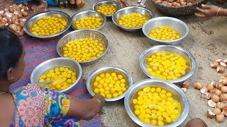 450 Fried Eggs Curry Cooking   Very Tasty & Delicious Eggs Curry Prepared To Serve Kids & Villagers