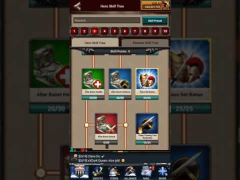 Gear sets in game of war and proper gem sets that go with them.