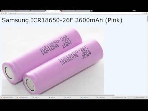 Samsung 18650 F/FM Battery Specs & Pricing