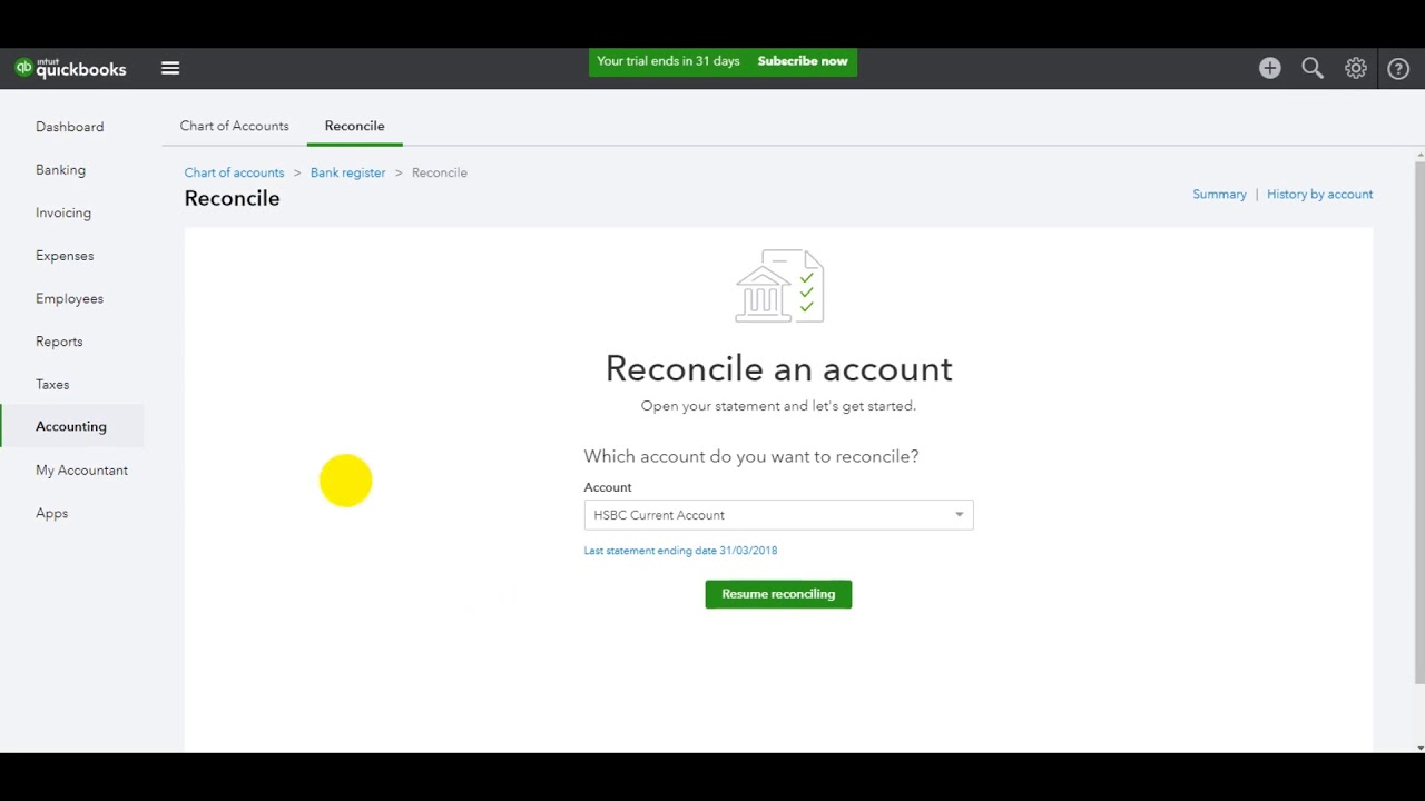 quickbooks online bank reconciliation part 3 youtube