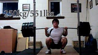 250kg/551 lbs PAUSED ATG Backsquat @94kg