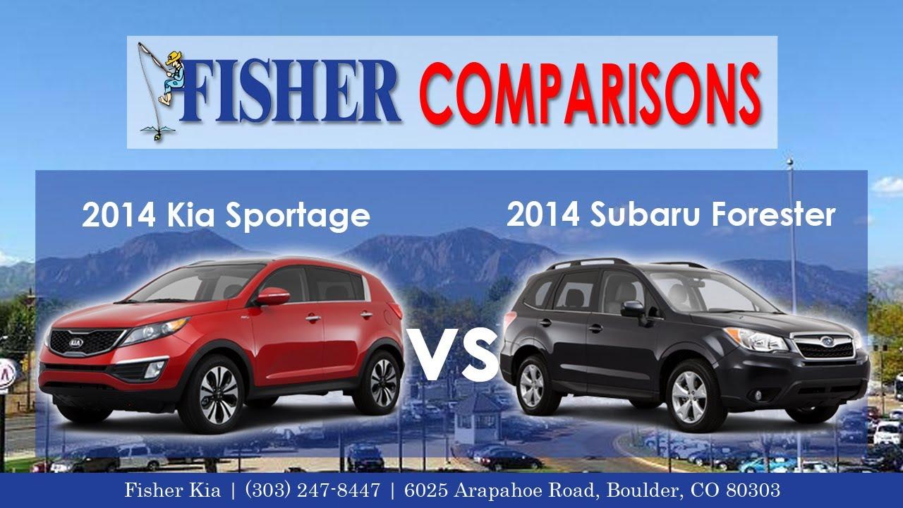 2017 Kia Sportage Vs Subaru Forester Vehicle Comparison Fisher In Boulder Co