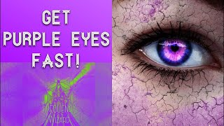 Get purple eyes fast!! subliminals frequencies hypnosis spell biokinesis - frequency wizard