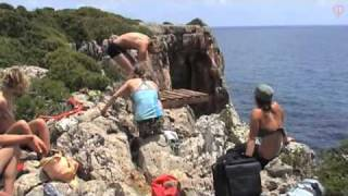 Extreme Cliff Jumping Contest