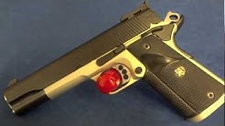 Caspian 1911 .45acp with Satin Aluminum & Graphite Black Cerakote