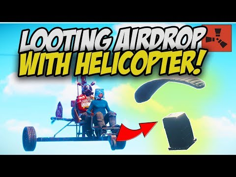 LOOTING RICH AIRDROP with a HELICOPTER! - Rust Solo #1 thumbnail