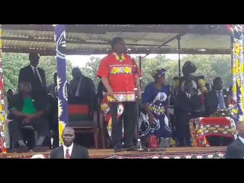 MCP President Dr Lazarus Chakwera in Salima