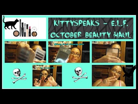 KittySpeaks - October E.L.F. Cosmetics Unboxing