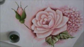 Dicas de pintura grátis – Rosas para iniciantes 2 – pintura em tecido. Cristina Ribeiro
