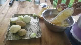 맛있고 재밌는 감자옹심이 만들기1편 감자 강판에 갈기