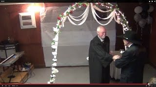Mike Fraley waits at the Altar with the Justice of the Peace for Livi Collins, Wedding, 00003