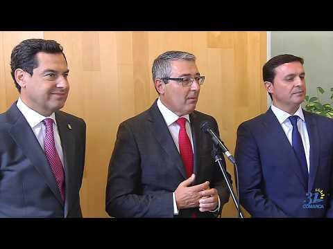 Comparecencia de Francisco Salado previaal pleno de constitución de la nueva corporación provincial de la Diputación de Málaga