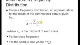 Measures of Centrality Section 7 3 Part 1