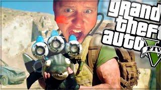 DOLPHIN RAIL GUN?! (GTA 5 Funny Moments)