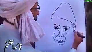 PAKISTANI TALENT || PAINTING OF QUAID E AZAM