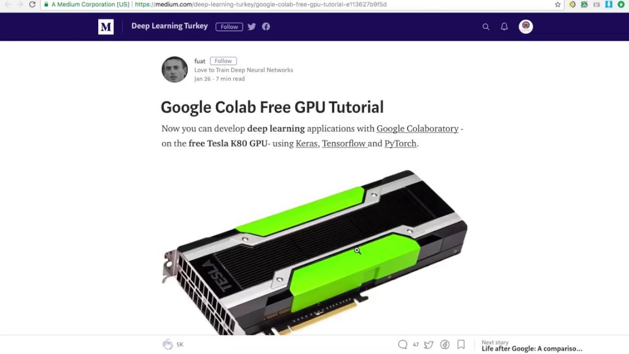 Google Colab ile Ücretsiz GPU Kullanımı : Keras ile Uygulamalı Derin  Öğrenme-5