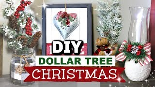 DIY Dollar Tree Christmas Farmhouse Decor | Dollar Tree Christmas DIYS | Krafts by Katelyn