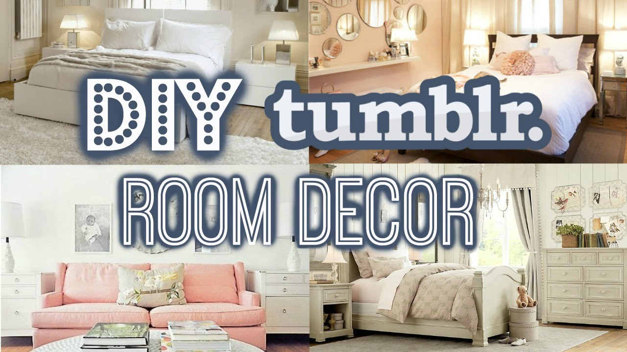 Diy room decor for small rooms tumblr inspired summer 2016 youtube - Room decor ideas pinterest ...