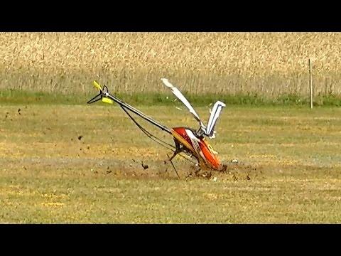 RC HELICOPTER CRASH !!! CHRONOS 700 / RC Meeting Damelang Germany 2016