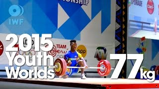 77kg Best Lifts 2015 Youth World Championships Lima