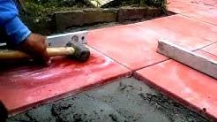 Como colocar baldosas en patio exterior