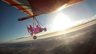 Flugplatz Dankern. Flight in autumn with VIPER TRIKE