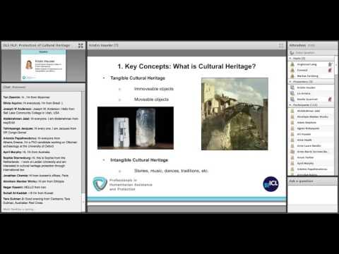 OLS HLP Session 18 - Protection of Cultural Heritage in Armed Conflict