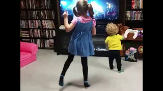 "Our 6 year old loves BABYMETAL. In this video, she dances to ""Gimme..."