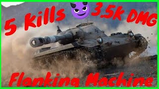 World of Tanks Blitz | 5 Kills | Aced | Ru 251 | The Flanking Machine in Vineyards