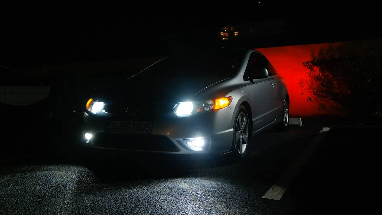 Honda Civic Ex-L >> 2008(8th gen) Honda Civic 240w LED Bulb's test!!! - YouTube
