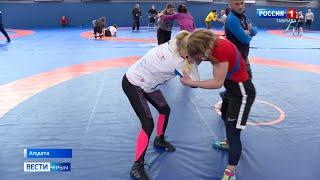 В Алуште проходят тренировки женской сборной России по вольной борьбе