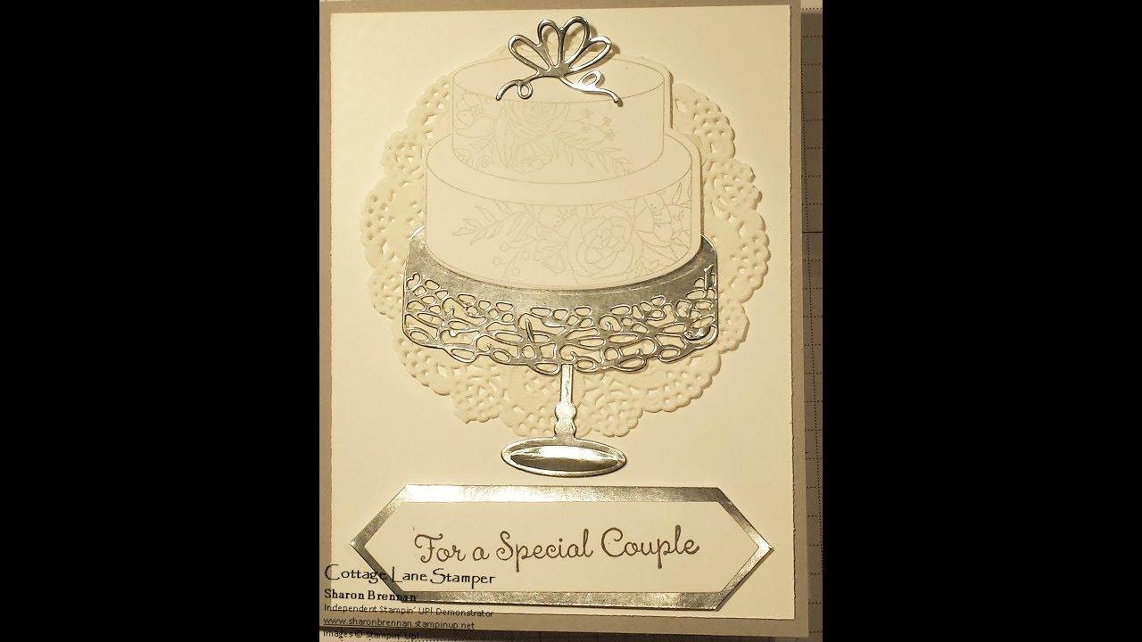 Stampin Up Sweet Soiree Wedding Card Youtube