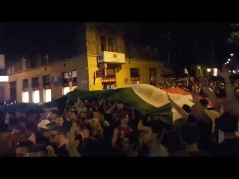 Budapest after losing 4 - 0 to Belgium in Euro2016