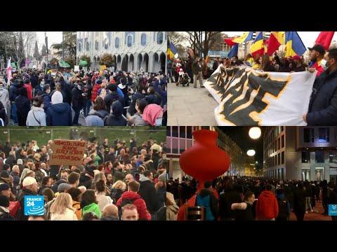 مظاهرات في عدة بلدان أوروبية احتجاجا على التدابير -الخانقة- للحد من انتشار فيروس كورونا  - 12:59-2021 / 4 / 4